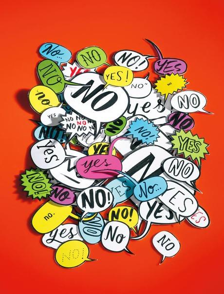 Ilustración del artículo The power of no de la revista Psychology Today.